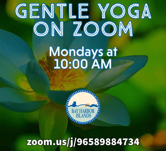 gentle yoga on Mondays