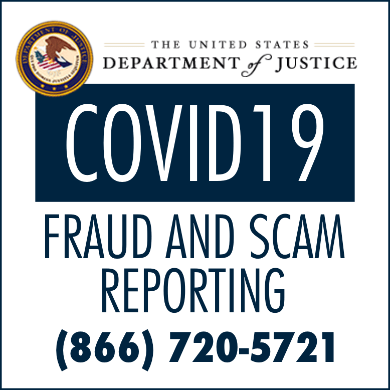 COVID19 FRAUD AND SCAM REPORTING